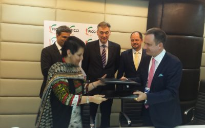 Indian-Bulgarian Business Chamber (IBBC) and Federation of Indian Chambers of Commerce & Industry (FICCI) Sign Memorandum of Understanding at FICCI office in New Delhi.